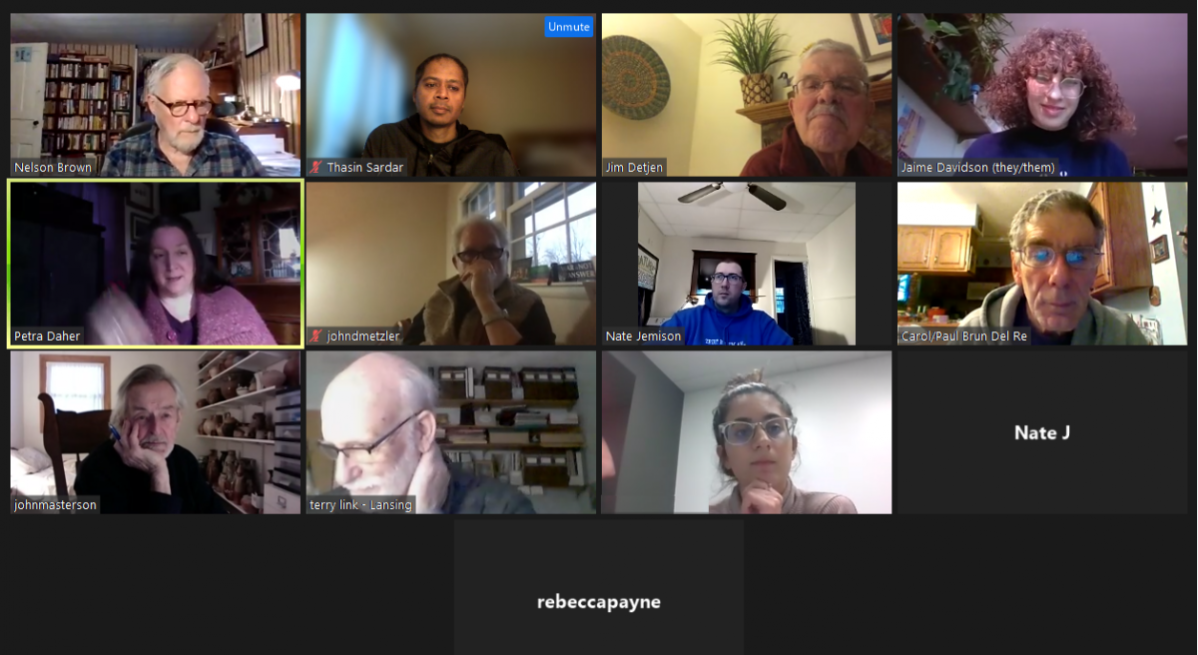 PEC Monthly Meeting - another Zoom meeting in the books
